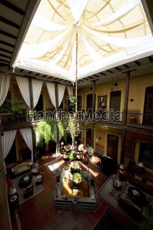 inner courtyard of mansion alcazar boutique