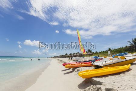 view down the white sand beach