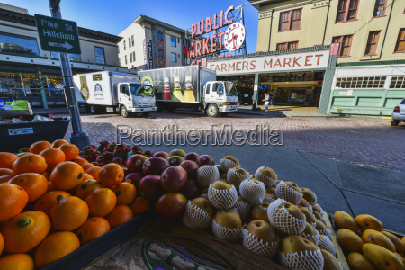 fruit on display at pike place