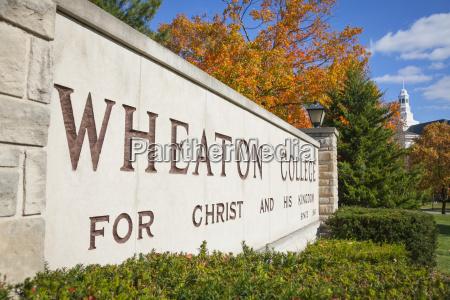 zeichen fuer wheaton college wheaton illinois