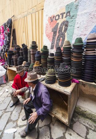 hat vendor at the thursday market