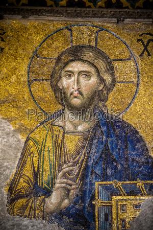 das deesis mosaik christi das in