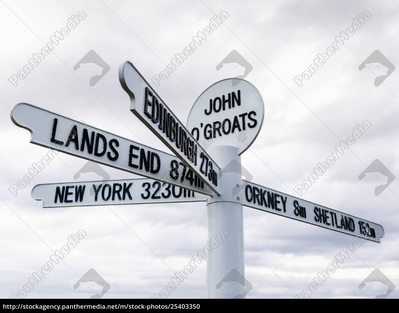 sign, for, destinations, and, distances, from - 25403350