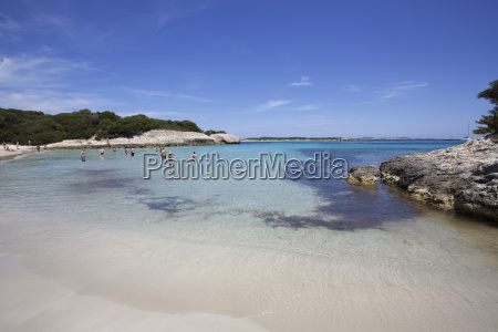 calm white sand bay with turquoise