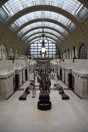 musee dorsay paris france interior of