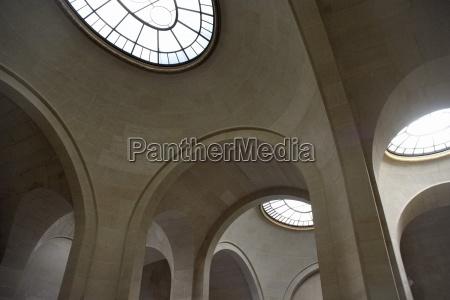 paris france round windows in parisian