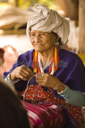 senior woman from lahu shi balah