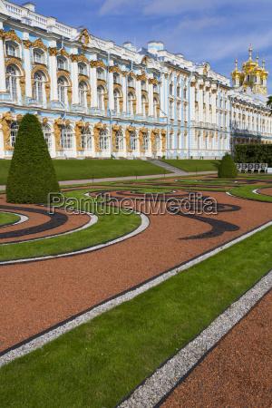 katharinenpalast, südseite;, zarskoje, selo, puschkin, russland - 25408374