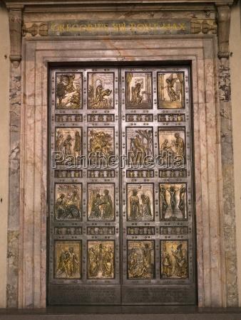the holy door in saint peters