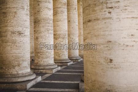 columns at saint peters square vatican