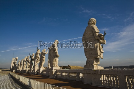 row of statues vatican city saint