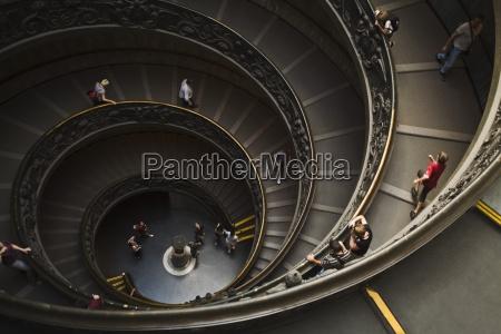 wickeltreppe, im, vatikan, museum;, roma, italien - 25409352