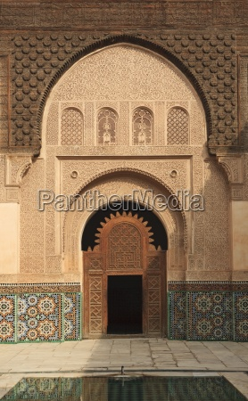 intricate wood carving stucco work and