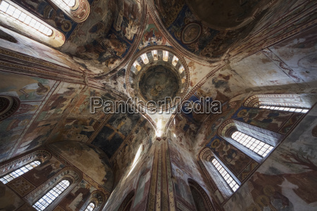 frescoes in the interior of the