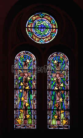 stained glass windows in catedral de
