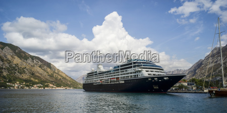 a cruise ship mooring in the