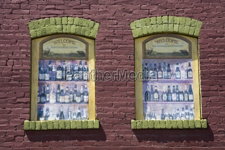 historic district window ellensburg washington usa