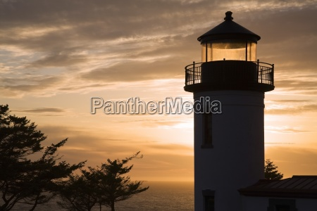 admiralty head lighthouse at sunset coupville
