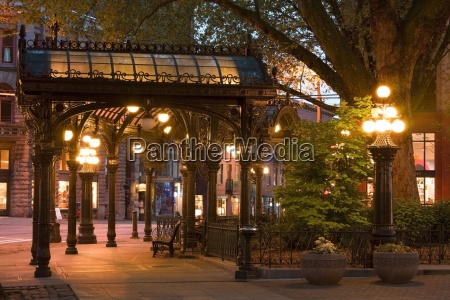 pergola in pioneer square seattle washington