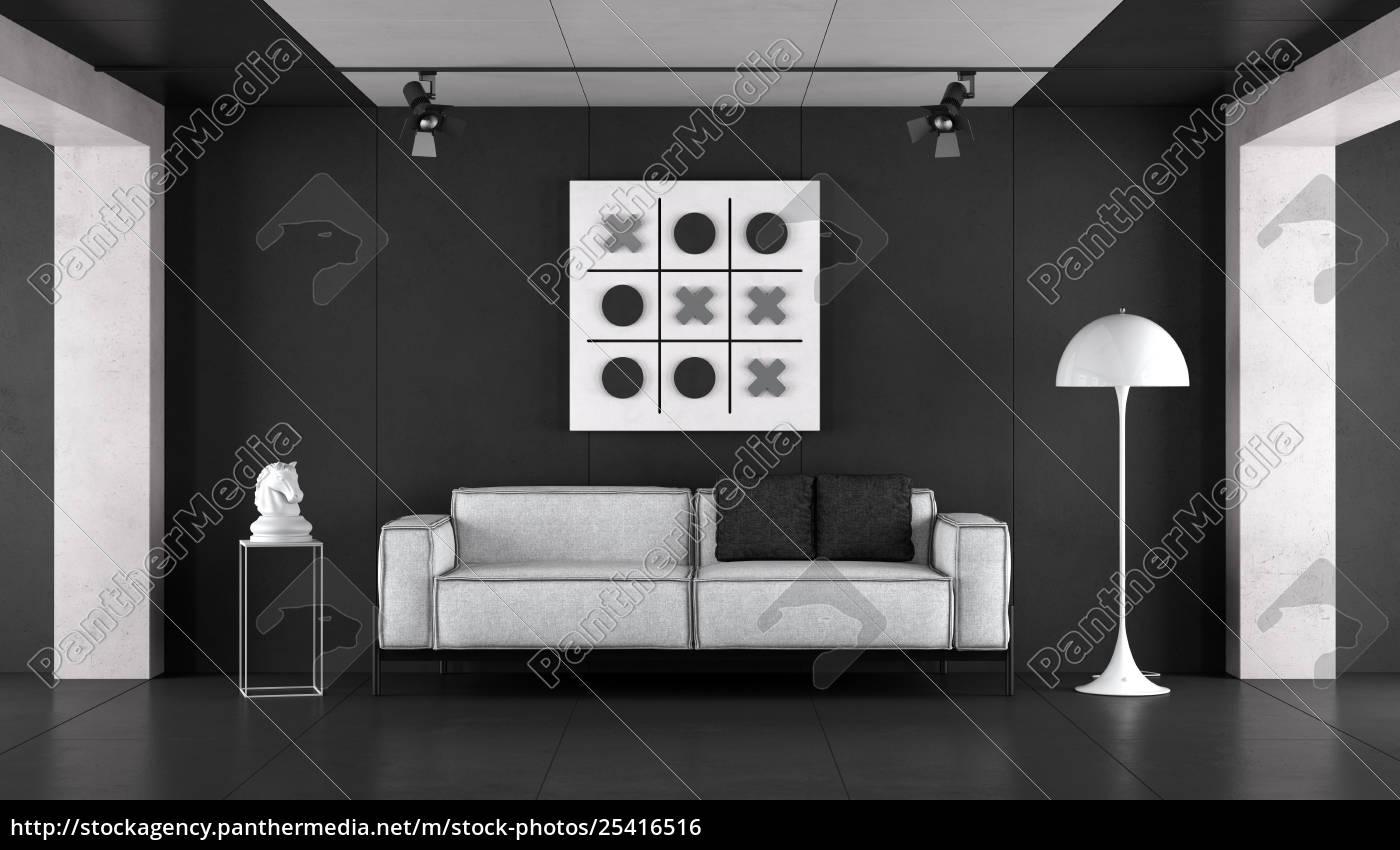 Lizenzfreies Foto 25416516 - minimalist schwarz weiß wohnzimmer