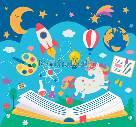 concept, of, kids, education, while, reading - 25416962
