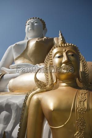 buddhist statues wat phrathat doi kham