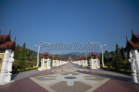 path through rajapreuk gardens chiang mai