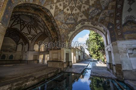 pool in the qajar pavilion in
