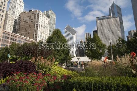 downtown chicago illinois usa
