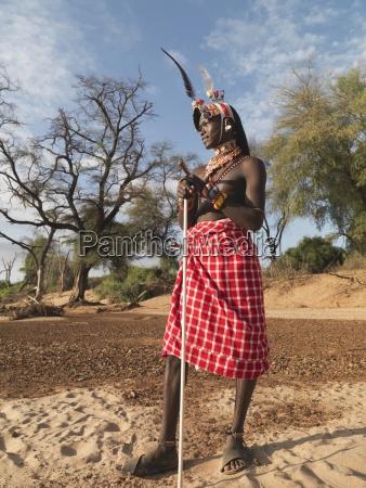 samburu tribe mitglied samburu national reserve