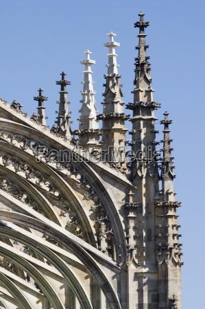 detaillierte gotische boegen der st barbara