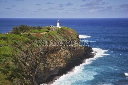 kilauea lighthouse on the end of