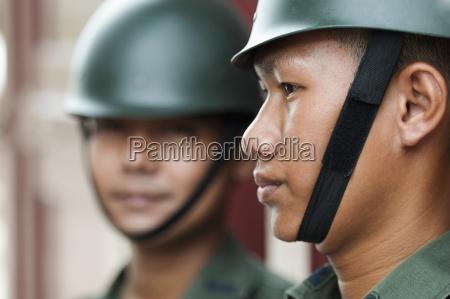 armed guards at the royal palace