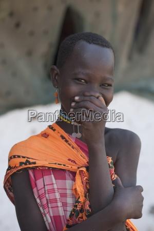maasai girl kenya africa