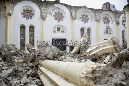 the ruins of the catholic cathedral
