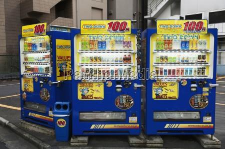 verkaufsmaschinen mit getraenken tokio japan