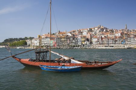 traditional port wine boats on the