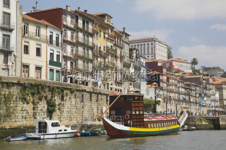 sightseeing boat moored on the douro