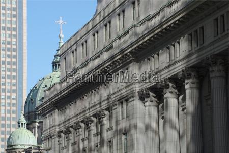 blau buero bauten kirche stadt leben