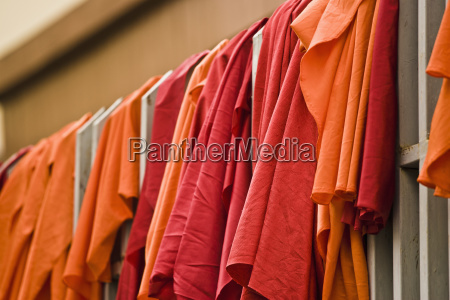 monks robes hung out to dry