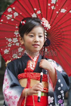 portrait of young girl wearing a