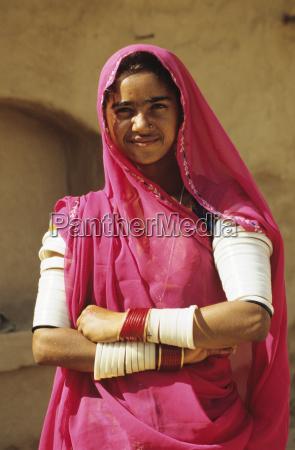 india rajasthan near jodhpur local woman