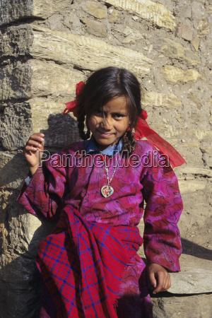 nepal gorkha portraet des jungen dorf