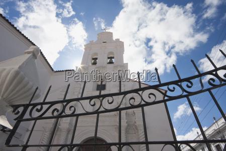 santa monica church sucre chuquisaca department