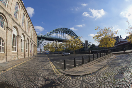 view of the tyne bridge from