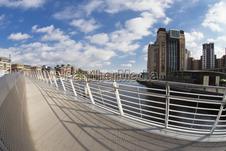 a pedestrian bridge across river tyne