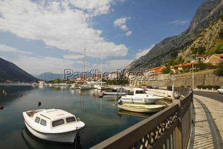 boats in a bay kotor montenegro