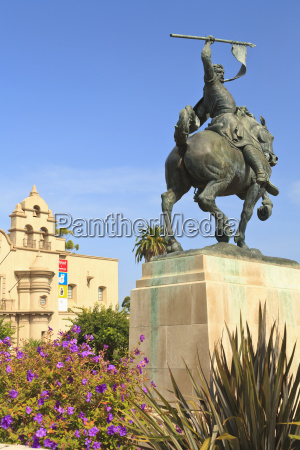 an equestrian statue at museum of