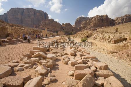 ruinen der nabatean stadt petra jordanien