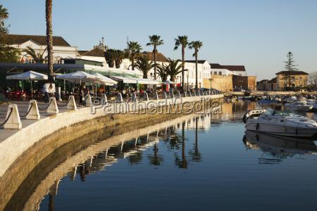 promenade and harbour faro algarve portugal